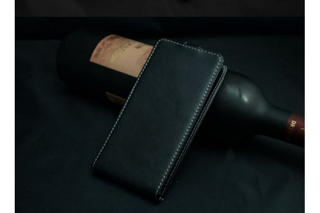 Вертикальный откидной чехол-флип для zte blade a465  черный