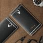 Фирменная премиальная элитная крышка-накладка на ZTE Blade A510 черная из качественного силикона с дизайном под кожу