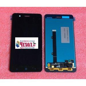 Фирменный LCD-ЖК-сенсорный дисплей-экран-стекло с тачскрином на телефон ZTE Blade A520 5.0 (BA520) черный + гарантия