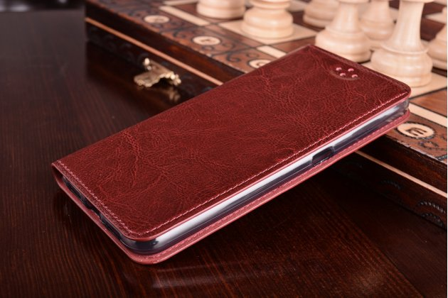"""Премиальный элитный чехол-книжка из качественной импортной кожи с мульти-подставкой для zte blade a910 / ba910 5.5""""  красный"""