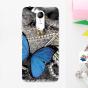 """Роскошная силиконовая задняя панель-чехол-накладка с безумно красивым расписным узором на zte blade a910 / ba910 5.5 """"тематика бабочка"""""""