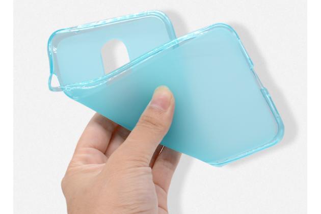 Ультра-тонкая силиконовая задняя панель-чехол-накладка для zte blade a910 / ba910 5.5 голубая
