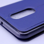 Чехол-книжка для zte blade a910 / ba910 5.5 синий с окошком для входящих вызовов и мультиподставкой  водоотталкивающий