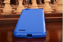 """Ультра-тонкая полимерная из мягкого качественного силикона задняя панель-чехол-накладка для zte blade l4/ l4 pro (a460) 5.0"""" синий"""