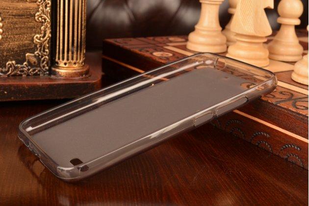 """Ультра-тонкая полимерная из мягкого качественного силикона задняя панель-чехол-накладка для zte blade l4/ l4 pro (a460) 5.0"""" черная"""