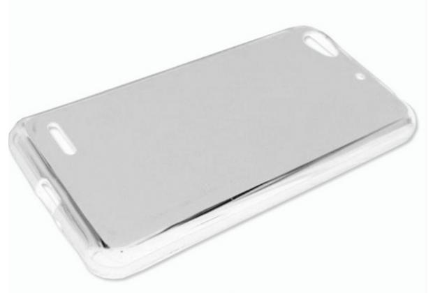 """Ультра-тонкая полимерная из мягкого качественного силикона задняя панель-чехол-накладка для zte blade l4/ l4 pro (a460) 5.0"""" белая"""