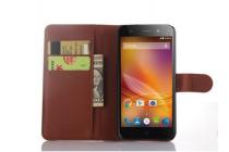 """Чехол-книжка из качественной импортной кожи с подставкой застёжкой и визитницей для zte blade l4/ l4 pro (a460) 5.0""""  коричневый"""