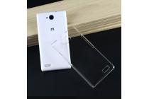 Задняя панель-крышка-накладка из тончайшего и прочного пластика для  zte blade q lux 3g/ q lux 4g (a430)  прозрачная