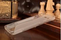 """Ультра-тонкая полимерная из мягкого качественного силикона задняя панель-чехол-накладка для zte blade s7 5.0"""" серая"""