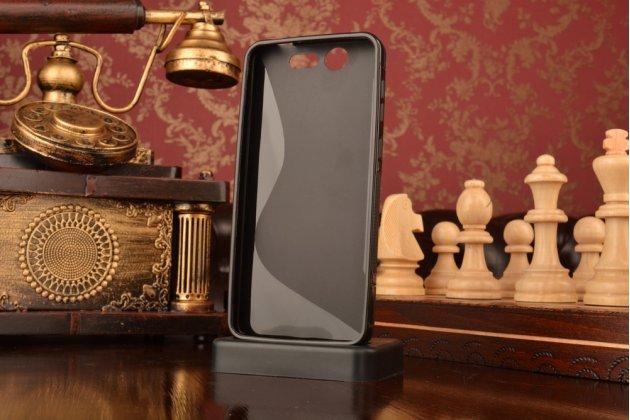 """Ультра-тонкая полимерная из мягкого качественного силикона задняя панель-чехол-накладка для zte blade s7 5.0"""" черная"""