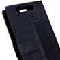 """Чехол-книжка с подставкой для zte blade s7 5.0"""" лаковая кожа крокодила черный"""