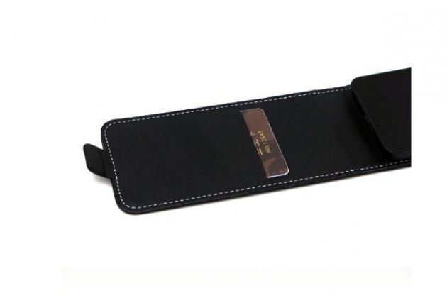 """Вертикальный откидной чехол-флип для zte blade v580 5.5"""" черный"""