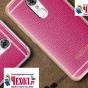 Премиальная элитная крышка-накладка на zte blade v7 5.2 (bv0701) розовая из качественного силикона с дизайном под кожу
