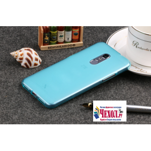 Ультра-тонкая полимерная из мягкого качественного силикона задняя панель-чехол-накладка для zte blade v7 5.2 (bv0701) голубая