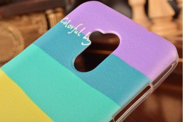 """Ультра-тонкая полимерная из мягкого качественного силикона задняя панель-чехол-накладка для zte blade v7 lite/ blade a2 5.0""""  тематика """"все цвета радуги"""""""