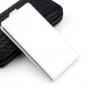 """Вертикальный откидной чехол-флип для zte blade v8 pro"""" белый из натуральной кожи prestige"""