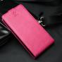 Вертикальный откидной чехол-флип для розовый из натуральной кожи prestige