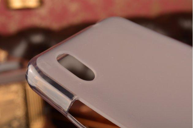 Ультра-тонкая полимерная из мягкого качественного силикона задняя панель-чехол-накладка для zte blade x3/zte blade d2  5.0 черная
