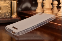 Ультра-тонкая полимерная из мягкого качественного силикона задняя панель-чехол-накладка для zte blade x3/zte blade d2 5.0 белая