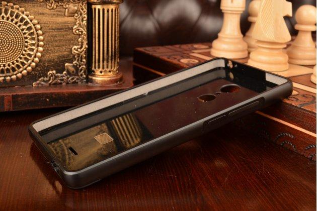 Металлическая задняя панель-крышка-накладка из тончайшего облегченного авиационного алюминия для zte blade x9  черная