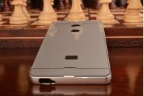 Фирменная металлическая задняя панель-крышка-накладка из тончайшего облегченного авиационного алюминия для ZTE Blade X9  серебрянная