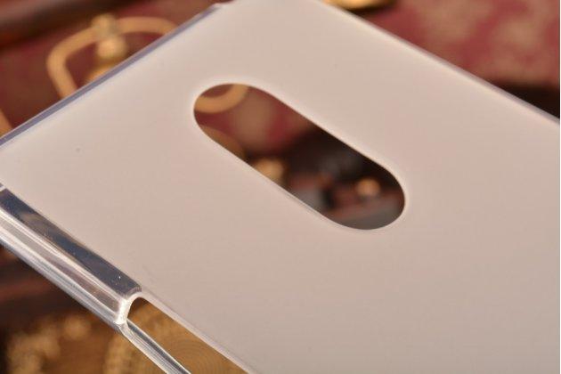 Ультра-тонкая полимерная из мягкого качественного силикона задняя панель-чехол-накладка для zte blade x9 белая