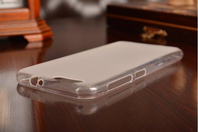 Ультра-тонкая полимерная из мягкого качественного силикона задняя панель-чехол-накладка для zte blade z10 5.2 белая