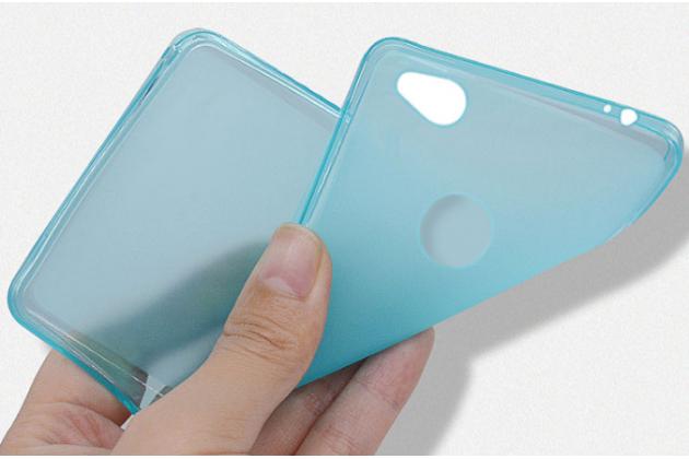 Ультра-тонкая полимерная из мягкого качественного силикона задняя панель-чехол-накладка для zte nubia n1 черная