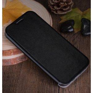 """Фирменный чехол-книжка из качественной водоотталкивающей импортной кожи на жёсткой металлической основе для ZTE Nubia Z11 Mini 5.0"""" (NX529J) черный"""