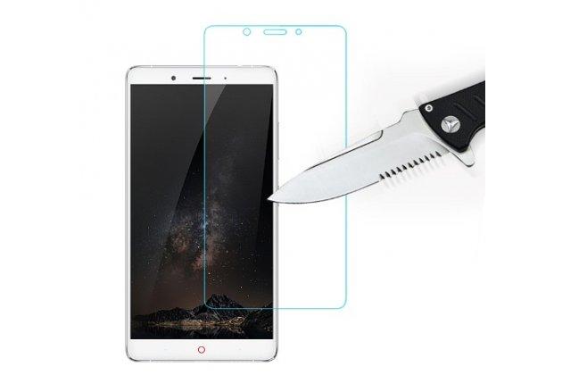 """Защитное закалённое противоударное стекло премиум-класса из качественного японского материала с олеофобным покрытием для телефона zte nubia z11 max 6.0"""" (nx523j)"""