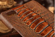 Элегантная экзотическая задняя панель-крышка с фактурной отделкой натуральной кожи крокодила кофейного цвета для zte nubia z9 max . только в нашем магазине. количество ограничено.