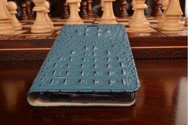 Роскошный эксклюзивный чехол с объёмным 3d изображением кожи крокодила синий для zte nubia z9 max . только в нашем магазине. количество ограничено