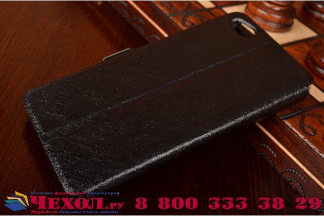 Чехол-книжка для zte nubia z9 mini  черный с окошком для входящих вызовов и свайпом водоотталкивающий