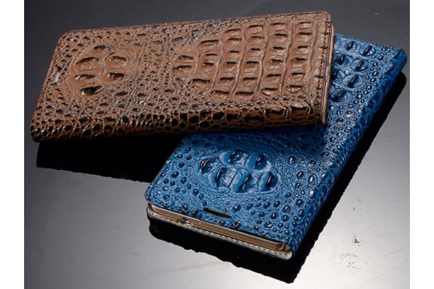Роскошный эксклюзивный чехол с объёмным 3d изображением рельефа кожи крокодила синий для zte nubia z9 mini . только в нашем магазине. количество ограничено