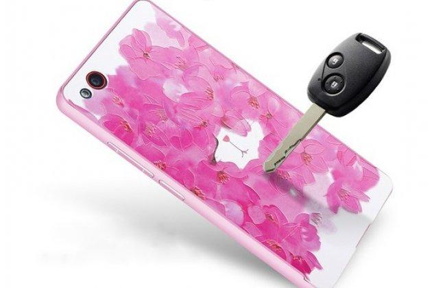 """Роскошная задняя панель-чехол-накладка из металла с объемным  3d изображением  на zte nubia z9 mini  с безумно красивым рисунком  """"тематика роскошные цветы"""""""