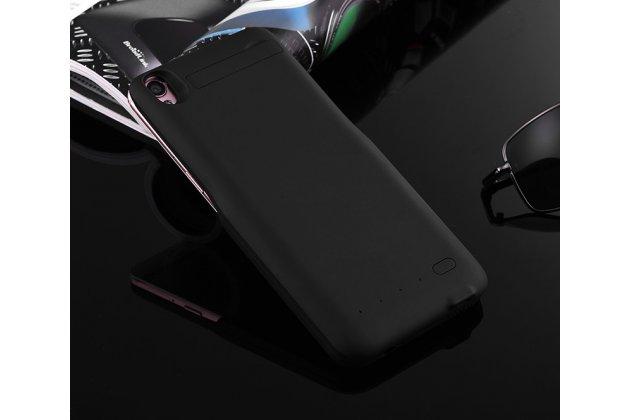 Чехол-бампер со встроенной усиленной мощной батарей-аккумулятором большой повышенной расширенной ёмкости 4200 mah для zte nubia m2 5.5 (nx551j) черный + гарантия