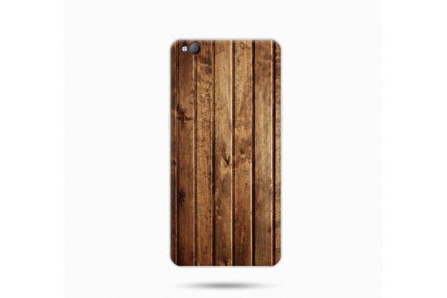 Премиальная элитная крышка-накладка на zte nubia m2 5.5 (nx551j) коричневая из качественного силикона с дизайном под дерево