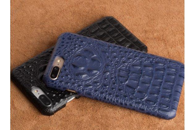 Роскошная эксклюзивная накладка с объёмным 3d изображением рельефа кожи крокодила синяя для zte nubia m2 5.5 (nx551j). только в нашем магазине. количество ограничено