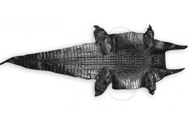 Эксклюзивный  чехол-кошелек-портмоне с рельефом кожи крокодила коричневый для zte nubia m2 5.5 (nx551j) из качественной импортной кожи премиум-класса с визитницей .только в нашем магазине. количество ограничено