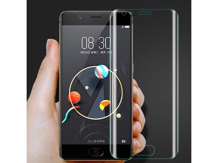 3d защитная пленка с закругленными краями которое полностью закрывает экран для телефона zte nubia m2 5.5 (nx5..