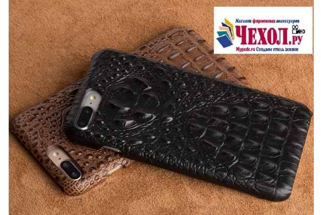 Роскошная эксклюзивная накладка с объёмным 3d изображением рельефа кожи крокодила черная  для zte nubia m2 5.5 (nx551j). только в нашем магазине. количество ограничено