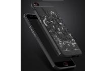 """Фирменная роскошная задняя панель-чехол-накладка из мягкого силикона с объемным  3D изображением  на ZTE Nubia M2 5.5 (NX551J)  c с безумно красивым рисунком """"тематика чёрный Дракон"""""""