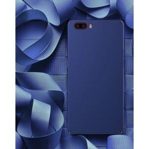 Фирменная ультра-тонкая пластиковая задняя панель-чехол-накладка для ZTE Nubia M2 5.5 (NX551J)  синяя
