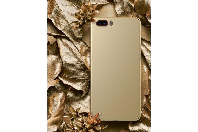 Ультра-тонкая пластиковая задняя панель-чехол-накладка для zte nubia m2 5.5 (nx551j) золотая