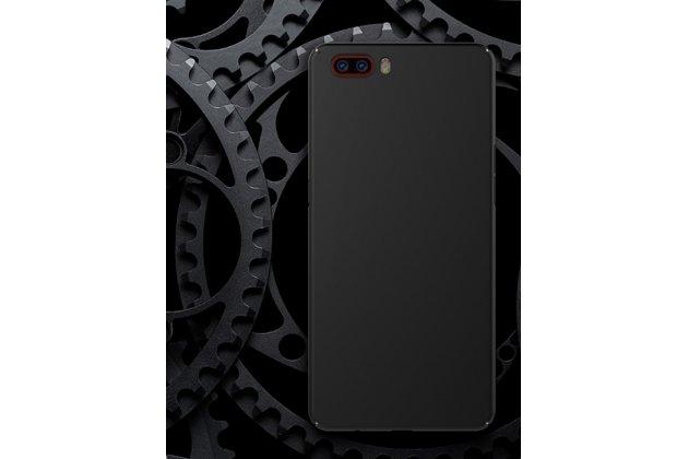 Ультра-тонкая пластиковая задняя панель-чехол-накладка для zte nubia m2 5.5 (nx551j) черная