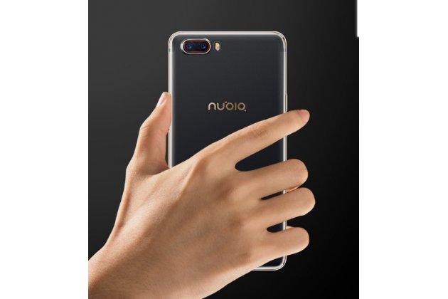 Ультра-тонкая полимерная из мягкого качественного силикона задняя панель-чехол-накладка для zte nubia m2 5.5 (nx551j) прозрачная