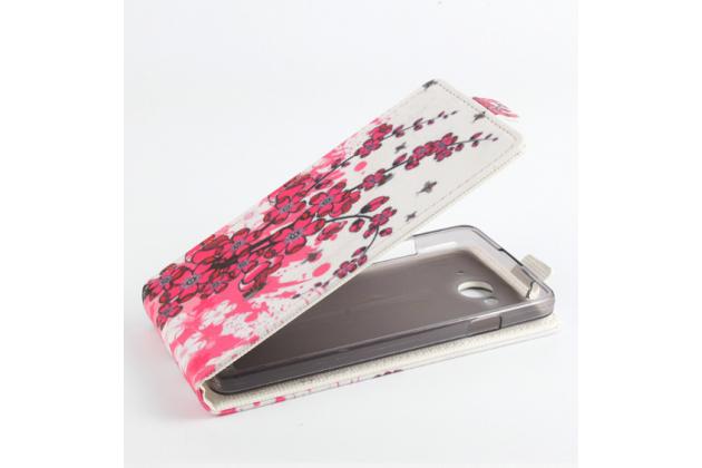 """Уникальный необычный чехол-флип для  zte blade hn v993w 5.0"""" """"тематика цветок сакуры"""""""