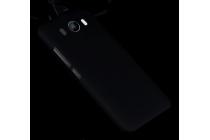 """Задняя панель-крышка-накладка из тончайшего и прочного пластика для zte grand s3 (s2004) 5.5"""" черная"""
