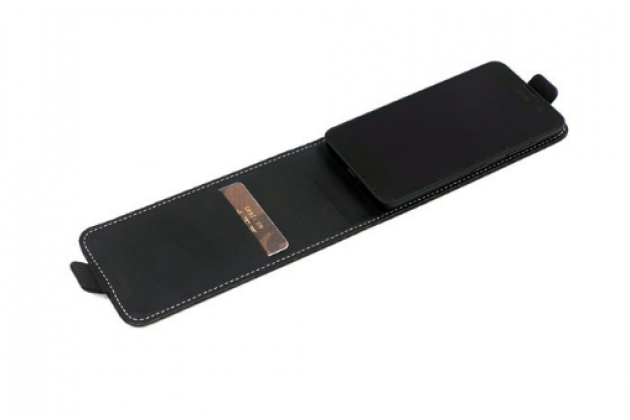 """Вертикальный откидной чехол-флип для zte grand s3 (s2004) 5.5"""" черный"""