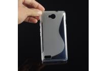 """Ультра-тонкая полимерная из мягкого качественного силикона задняя панель-чехол-накладка для  zte blade g lux  / kis 3 max (v830) 4.5"""" серая"""
